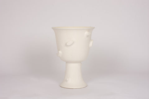 HT Faux Bois Urn in Matte White