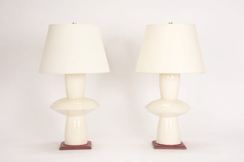 Pair of HT Medium Alexa Lamps in Clear