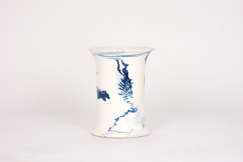 HT Patricia Vase in Delft Blue Marble