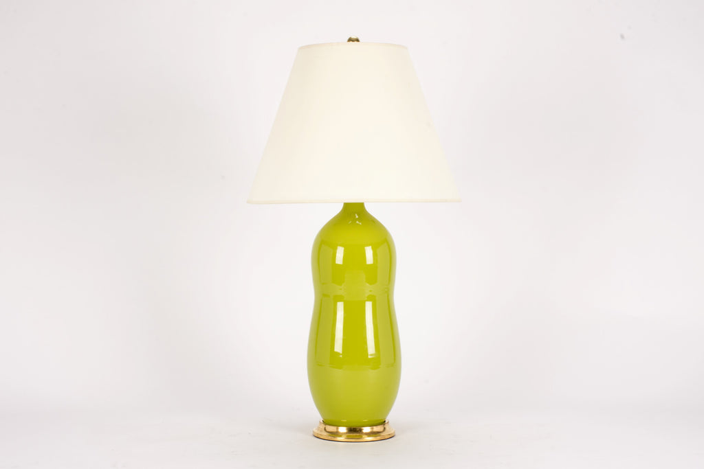 Single HT Peanut Lamp in Chartreuse