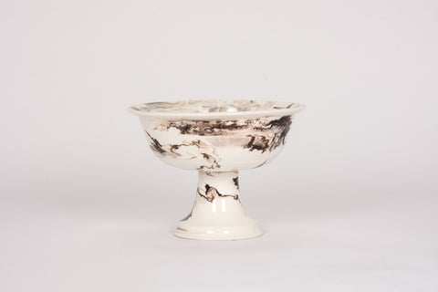 HT Pedestal Bowl in Brown Marble