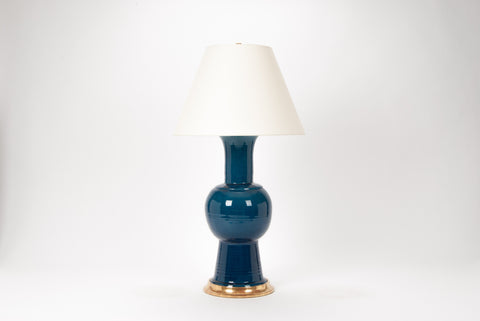 Single HT Romano Lamp in Prussian Blue