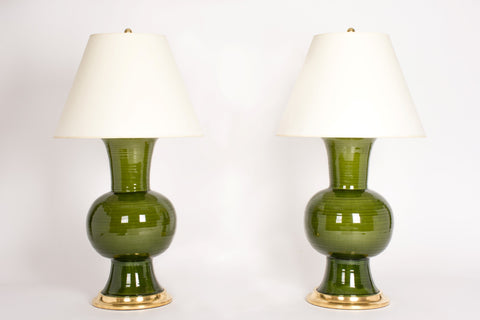 Pair of HT Todd Lamps in Spruce