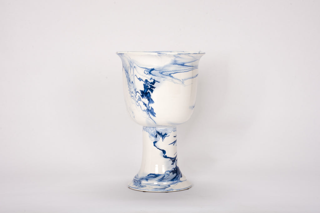 HT Urn in Delft Blue Marble