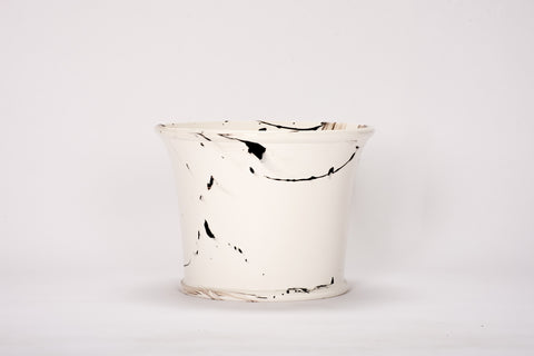 HT Extra Large Cache Pot in Brown Marble