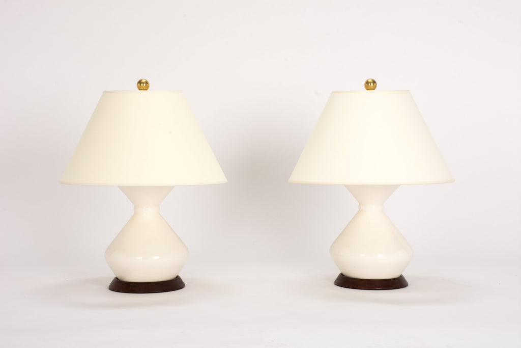 Pair of Hager Lamps in Blanc de Chine