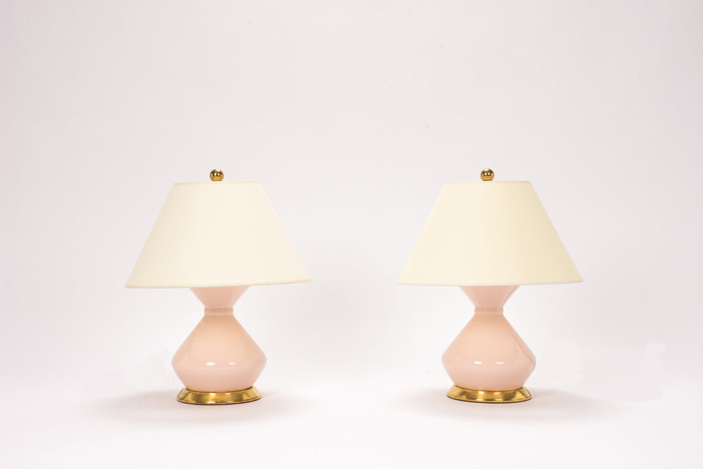 Pair of Hager Lamps in Blush Pink