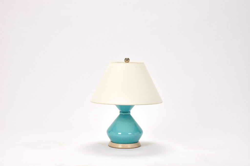 Single Hager Lamp in Light Blue Crackle