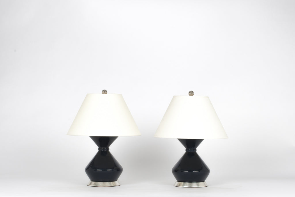 Pair of Hager Lamps in Navy