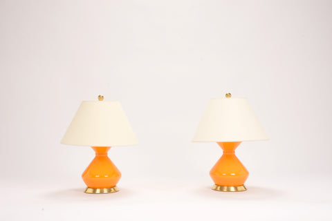 Pair of Hager Lamps in Pumpkin