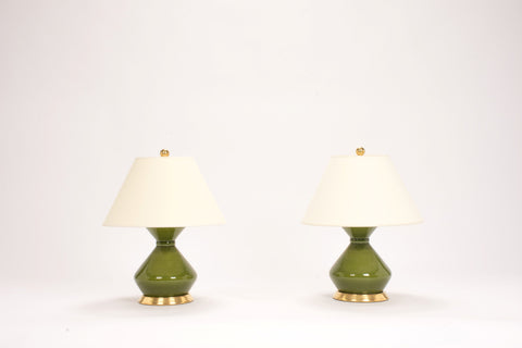 Pair of Hager Lamps in Spruce