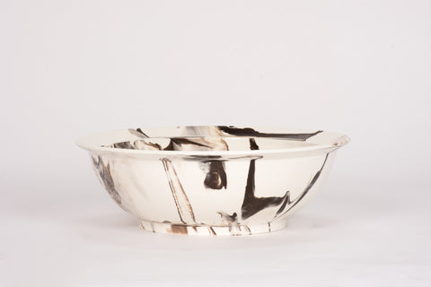 HT Low Bowl in Brown Marble