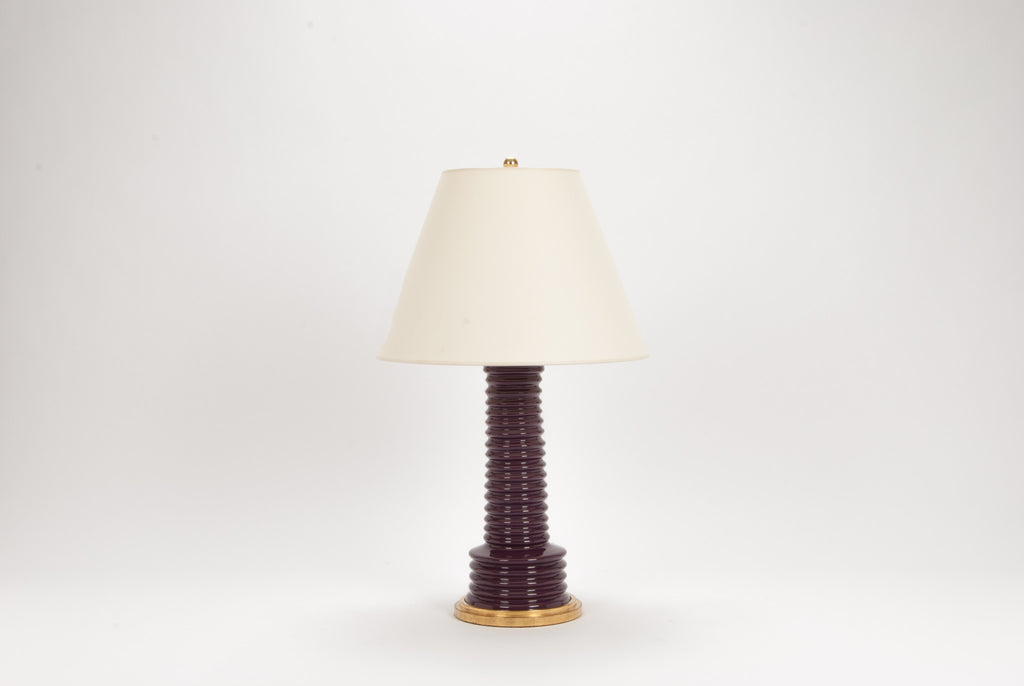 Single Harry Lamp in Aubergine