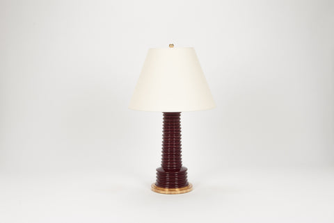 Single Harry Lamp in Claret