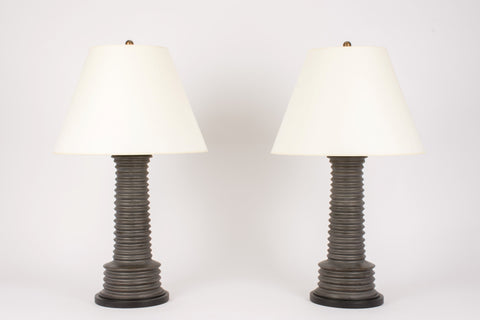 Pair of Harry Lamps in Matte Bronze