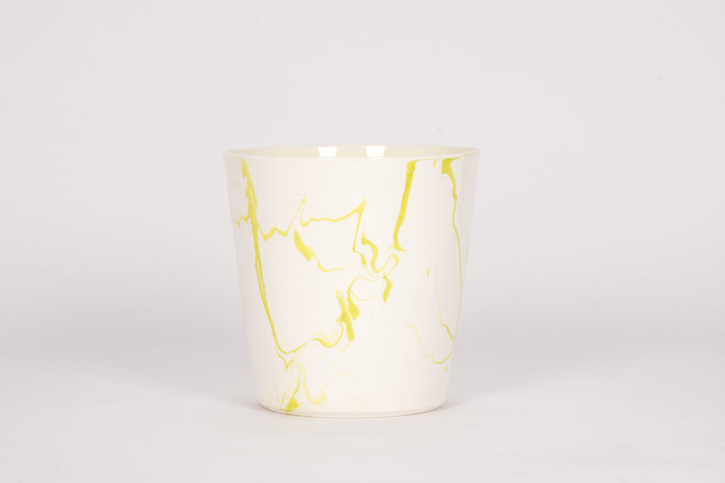 Ice Bucket in Lime Green Marble