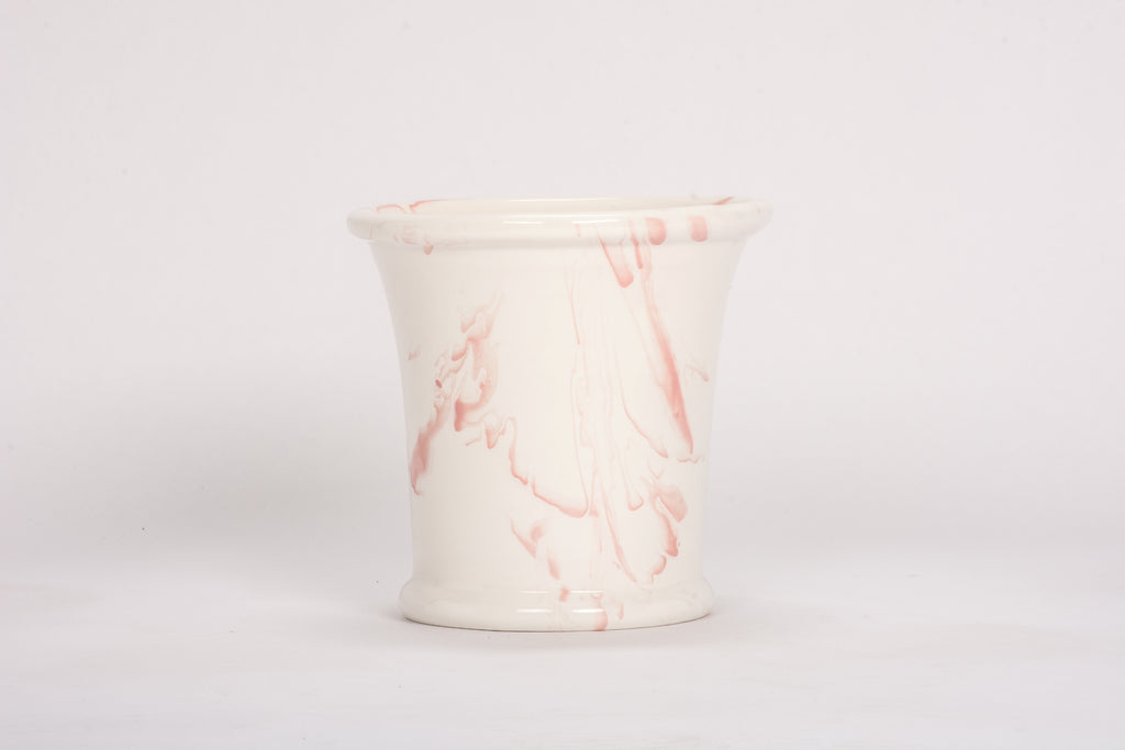 Large Cache Pot in Pink Marble
