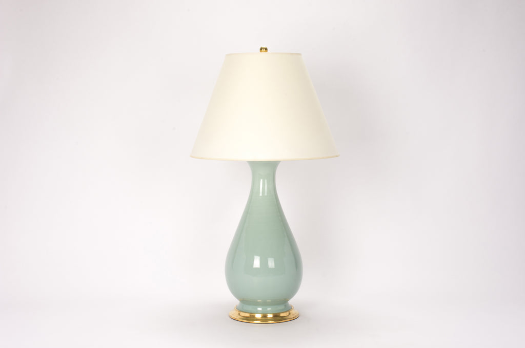 Single Large Louisa Lamp in Duck Egg