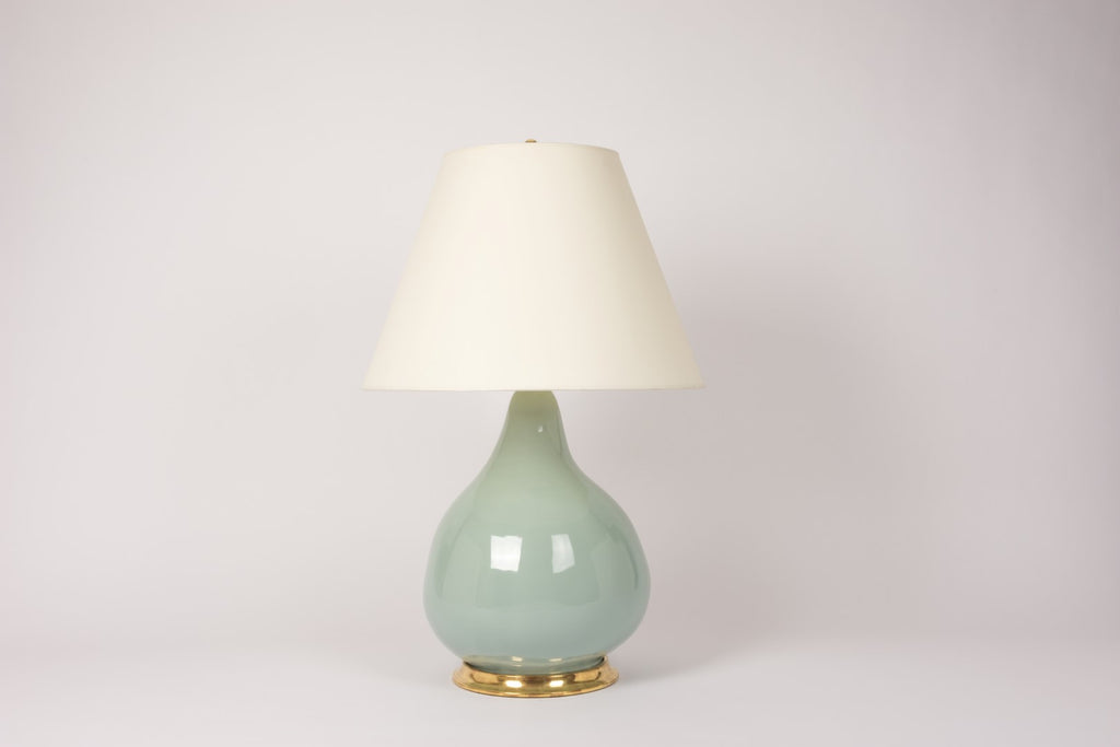 Single Large Pear Gourd Lamp in Duck Egg