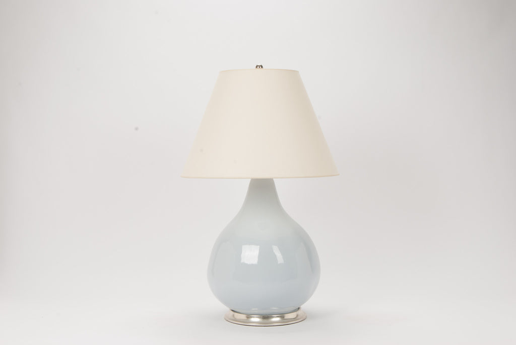 Single Large Pear Gourd Lamp in Hope Blue