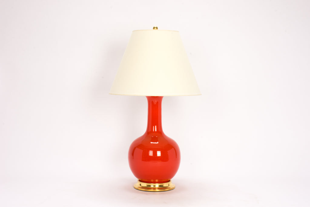 Single Large Single Gourd in Coral