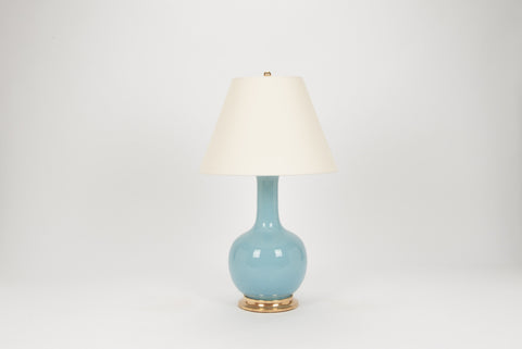 Single Large Single Gourd Lamp in Hydrangea