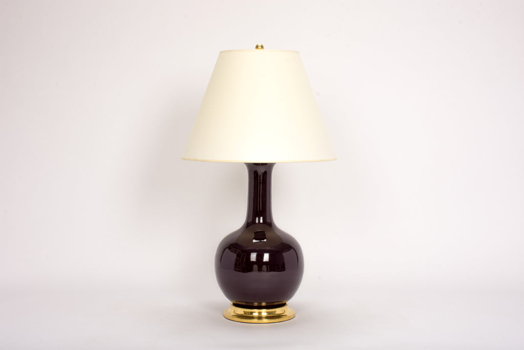 Single Large Single Gourd Lamp in Purple