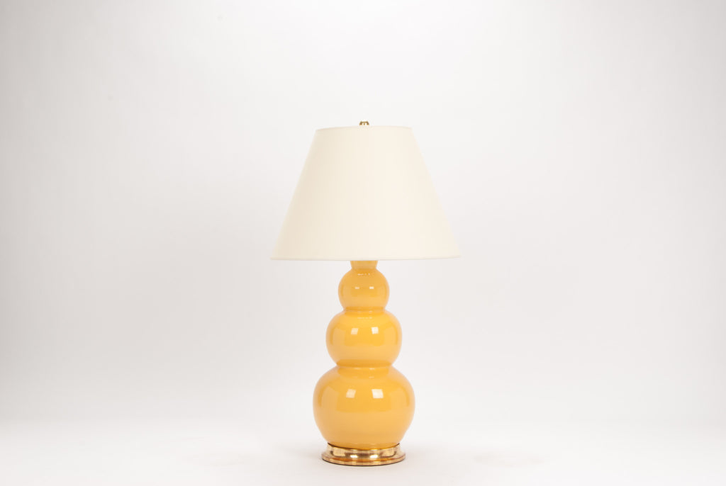Single Large Three Ball Lamp in Marigold