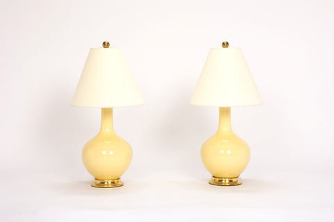 Pair of Lindsay Lamps in Butter