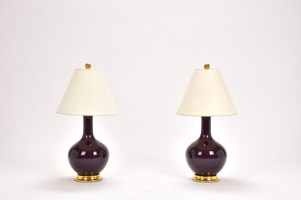 Pair of Lindsay Lamps in Purple