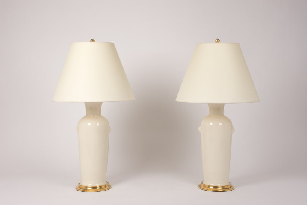Pair of MR Josephine Lamps in Clear Crackle
