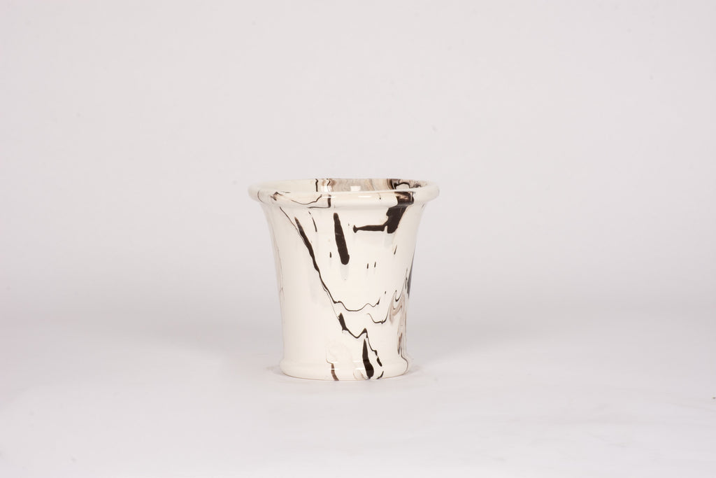 Medium Cache Pot in Brown Marble
