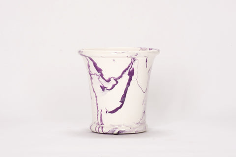 Medium Cache Pot in Lilac Marble