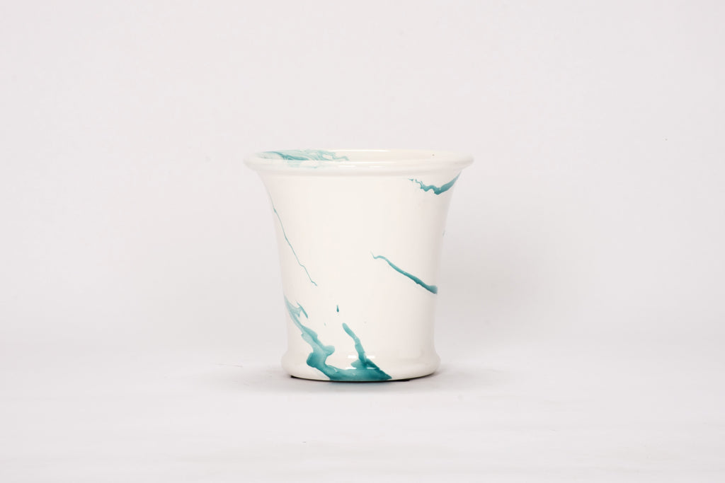 Medium Cache Pot in Turquoise Marble