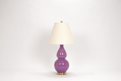 Single Medium Double Gourd Lamp in Lavender