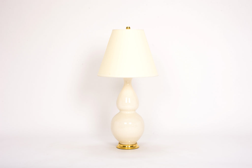 Single Medium Double Gourd Lamp in Tea Stain Crackle