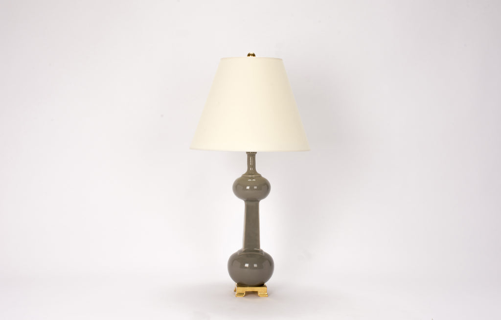 Single Medium Hadley Bottle Lamp in Grey