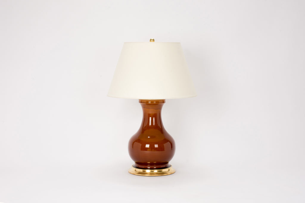 Single Medium Hann Lamp in Amber