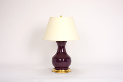 Single Medium Hann Lamp in Aubergine