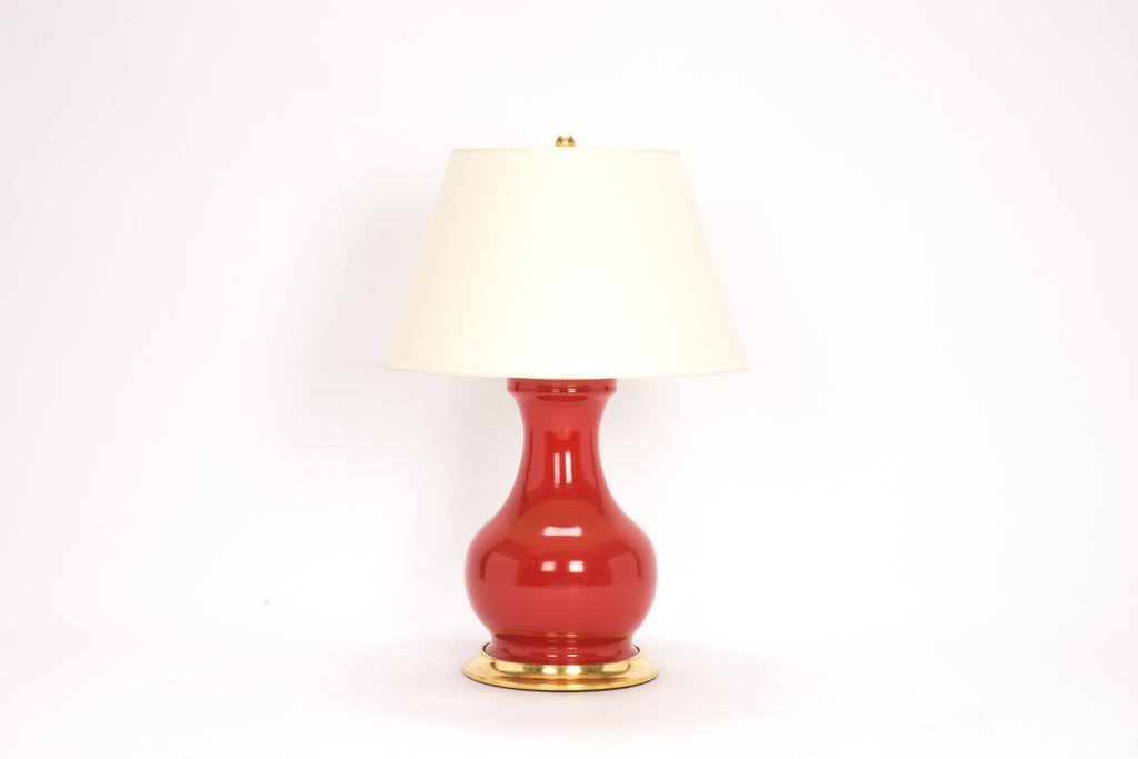 Single Medium Hann Lamp in Red