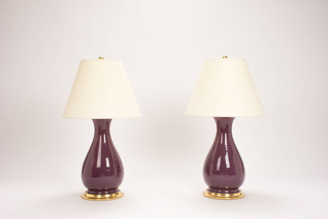 Medium Louisa Lamps in Aubergine