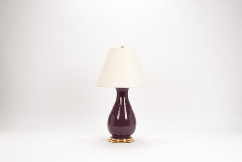 Single Medium Louisa Lamp in Aubergine