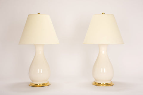 Pair of Medium Louisa Lamps in Blanc de Chine