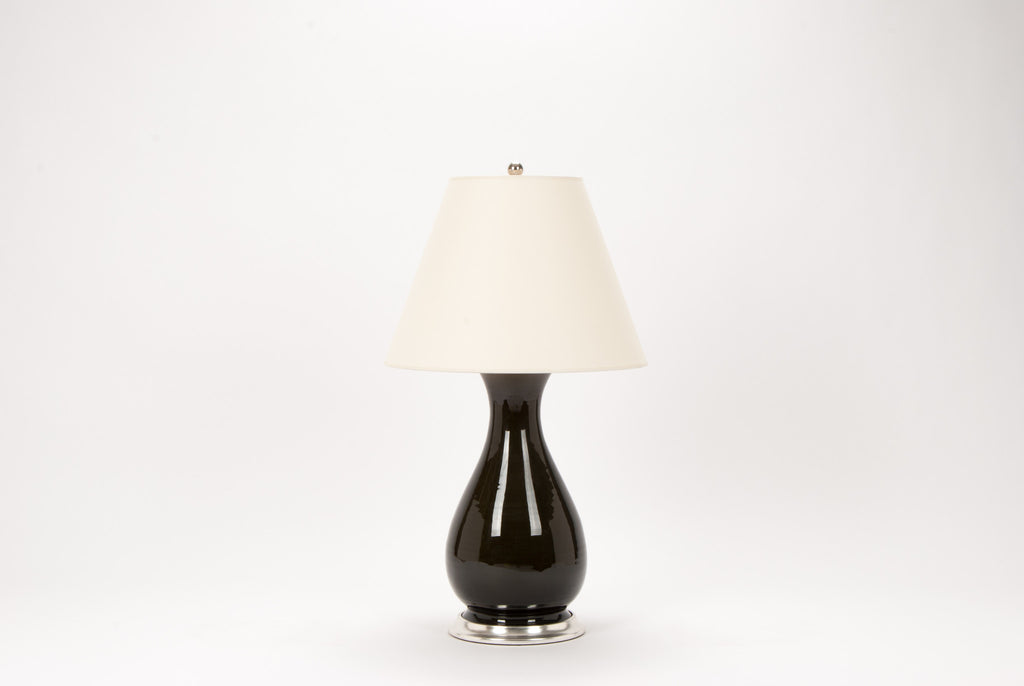 Single Medium Louisa Lamp in Olive
