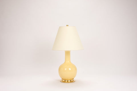 Single Medium Single Gourd Lamp in Butter