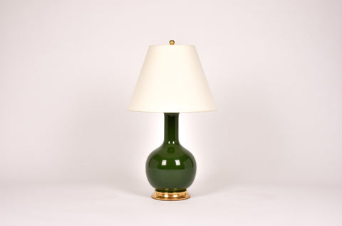 Single Medium Single Gourd Lamp in Dark Green