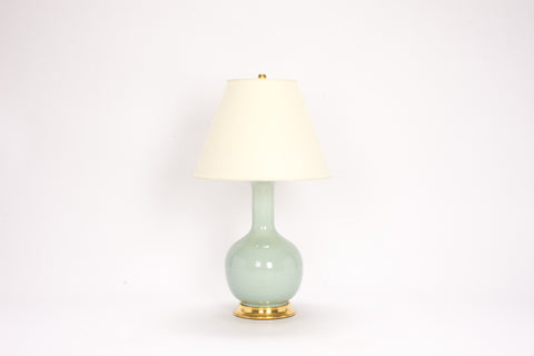 Single Medium Single Gourd Lamp in Duck Egg