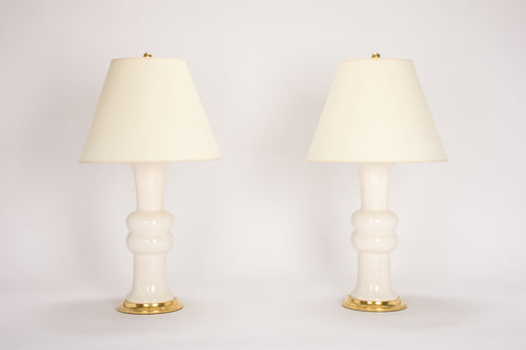 Pair of Medium Sophie Lamps in Blanc de Chine