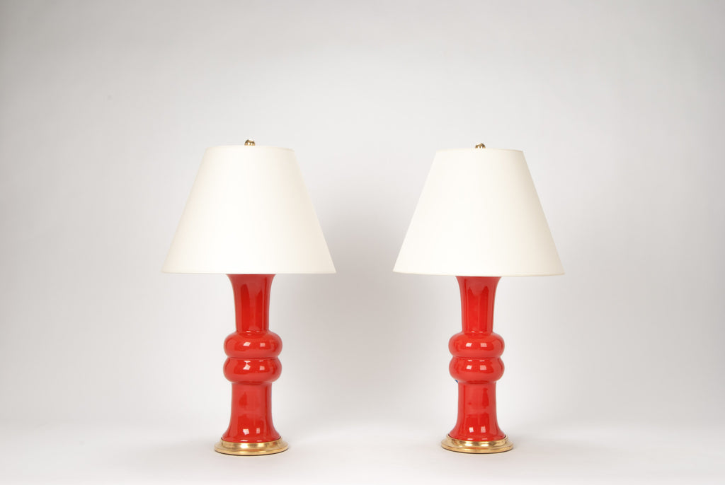 Pair of Medium Sophie Lamps in Coral