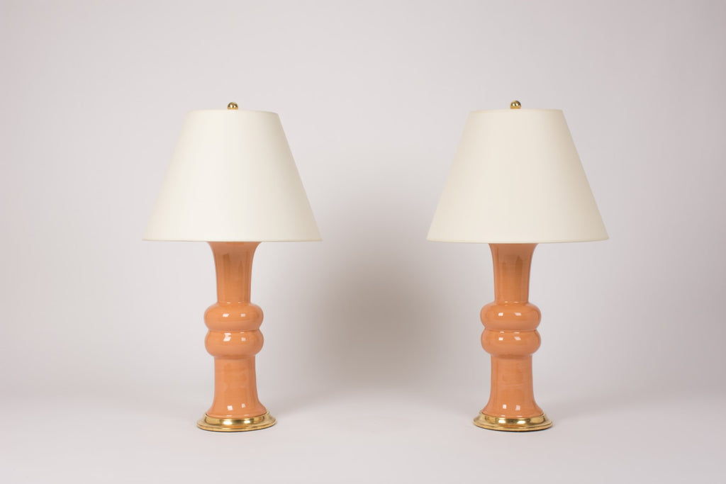 Pair of Medium Sophie Lamps in Peach